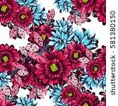 abstract elegance seamless... | Shutterstock .eps vector #581380150