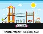 vector children's playground... | Shutterstock .eps vector #581381560