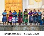 antigua  guatemala dec 26  2015 ... | Shutterstock . vector #581382226