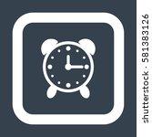 alarm clock icon  flat design...