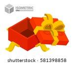 open gift box isometric | Shutterstock .eps vector #581398858