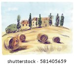 Typical Tuscan Landscape. Ital...