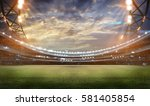 stadium in lights and flashes... | Shutterstock . vector #581405854
