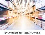blurred mattress  bedding on... | Shutterstock . vector #581409466