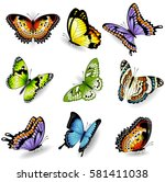collection of original vector... | Shutterstock .eps vector #581411038