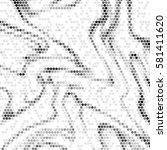 abstract grunge grid polka dot... | Shutterstock .eps vector #581411620