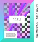 party invitation template.... | Shutterstock .eps vector #581413924