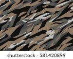 camouflage pattern. vector... | Shutterstock .eps vector #581420899