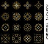 calligraphic design elements... | Shutterstock .eps vector #581421040