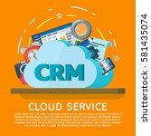 cloud computing services banner ... | Shutterstock .eps vector #581435074