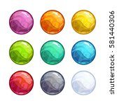 colorful bright bubbles set....