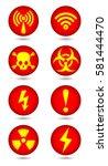 vector warning  signal symbol...   Shutterstock .eps vector #581444470