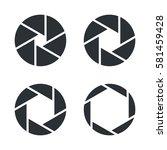 shutter aperture vector icons   Shutterstock .eps vector #581459428