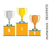 vector illustration of winners...   Shutterstock .eps vector #581459470