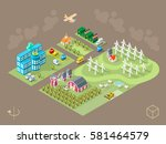 set of isolated isometric... | Shutterstock .eps vector #581464579
