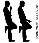 Silhouettes Of People Smoking