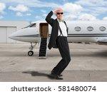 handsome man standing in front... | Shutterstock . vector #581480074