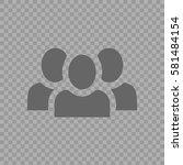 teamwork vector icon eps 10.... | Shutterstock .eps vector #581484154