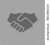 Handshake Vector Icon. Hands...