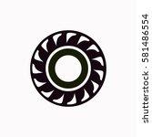 tire  icon vector design. | Shutterstock .eps vector #581486554
