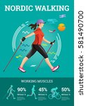 vector illustrated infographics ... | Shutterstock .eps vector #581490700
