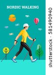 vector illustration poster with ... | Shutterstock .eps vector #581490940
