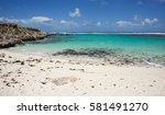 Remote Beach With Limestone An...