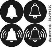 set of white bell alarm alert...