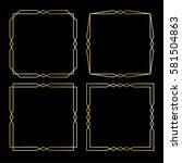 gold art deco frames | Shutterstock .eps vector #581504863