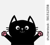 black cat ready for a hugging.... | Shutterstock .eps vector #581512558