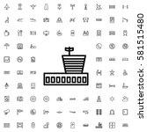 airport icon illustration... | Shutterstock .eps vector #581515480