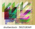 arrow pattern texture | Shutterstock .eps vector #581518369