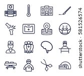 doctor icons set. set of 16... | Shutterstock .eps vector #581526574