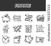 finance flat icons set