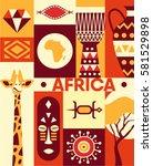 africa  vector flat... | Shutterstock .eps vector #581529898