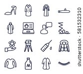 drawn icons set. set of 16... | Shutterstock .eps vector #581532310