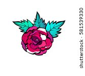 rosebud. vector illustration. | Shutterstock .eps vector #581539330