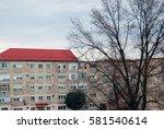 simple town street view in... | Shutterstock . vector #581540614