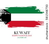kuwait national day greeting... | Shutterstock .eps vector #581548750