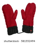 mittens isolated on white... | Shutterstock . vector #581552494