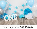 festive background decoration... | Shutterstock . vector #581556484