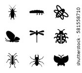insect icons set. set of 9... | Shutterstock .eps vector #581558710