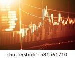 stock market digital graph...   Shutterstock . vector #581561710