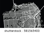 san francisco vector city map | Shutterstock .eps vector #581565403