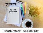 business concept   top view... | Shutterstock . vector #581580139