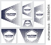 vintage halftone style... | Shutterstock .eps vector #581580454