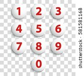 numbers set. vector. | Shutterstock .eps vector #581581168
