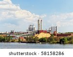 Riverfront Paper Mill With...