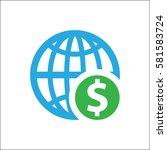 globe on white background | Shutterstock .eps vector #581583724