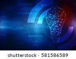 bulb future technology ...   Shutterstock . vector #581586589